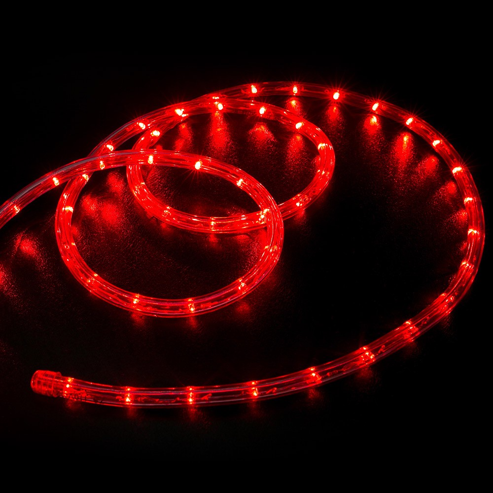 100 Red LED Rope Light Home  Outdoor Christmas Lighting