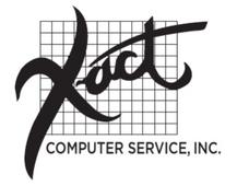 Payroll Service, X-Act Computer Service Sample Payroll