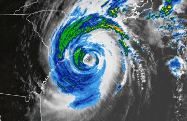 satellite view hurricane dorian
