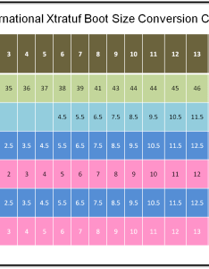 International men and women xtratuf boot size conversion chart also   to sizes rh  tough