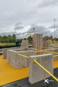 Bra parkour aktivitetspark X2 Architects