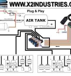 custom plug and play air ride systems installation document for plumbing and wiring options  [ 990 x 795 Pixel ]