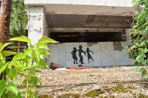 Graffiti on a wall in Pripyat