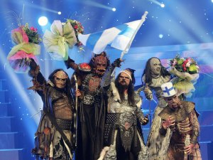 Lordi, after their 2006 Eurovision win!