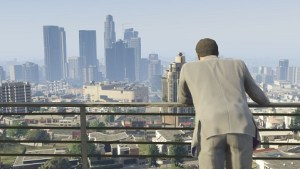 In Grand Theft Auto V players can explore the entire city of Los Santos (based on Los Angeles) as well as the nearby desert.