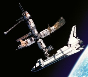 Atlantis and the Russian Space Station Mir