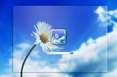 Hiển thị giao diện màn hình đăng nhập mới mà người dùng đã lựa chọn.