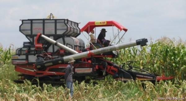 Chỉ có cơ giới hóa, áp dụng công nghệ cao trong sản xuất, sản phẩm nông nghiệp mới hy vọng nâng sức cạnh tranh trước hàng hóa của nước ngoài. Trong ảnh: Mô hình sản xuất nông nghiệp của Hoàng