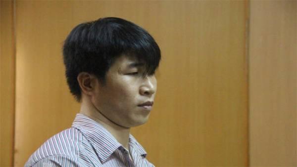 Bị cáo Dinh tại phiên toà