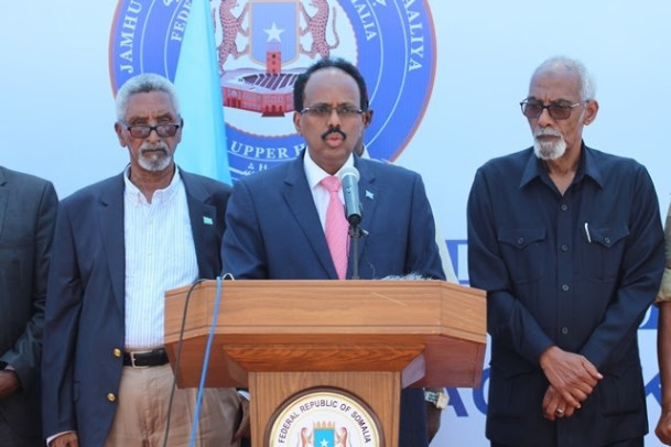 "President Farmaajo; ""….the two chambers of parliament must cooperate to ensure a fair process in the ongoing review of the constitution"""
