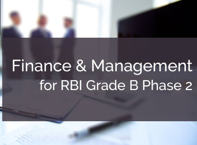 RBI Grade B Finance and Management Strategy