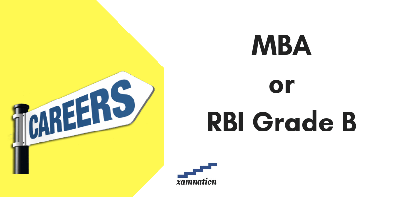 RBI Grade B career for MBA