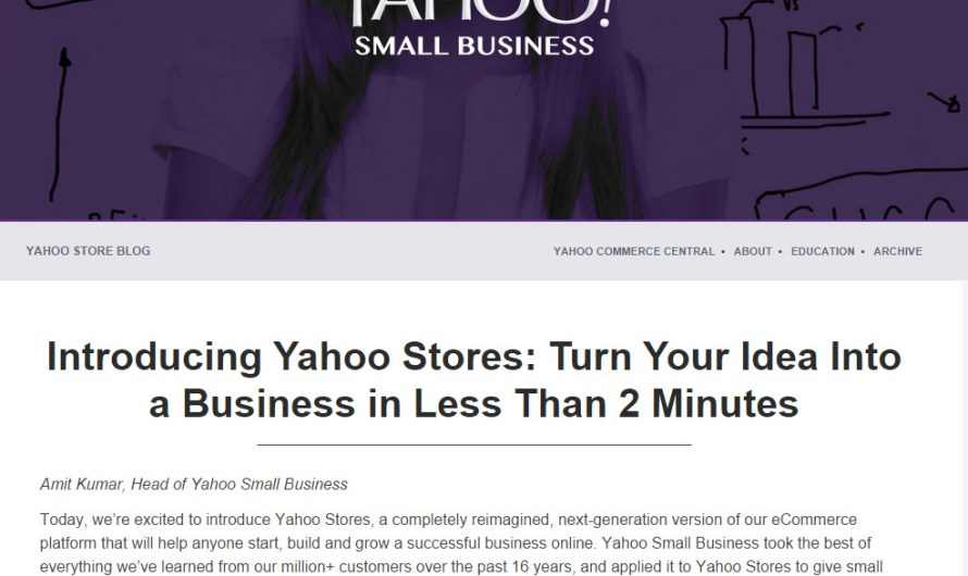 Yahoo Stores Revamped