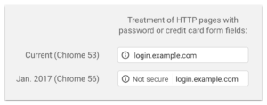 Google Chrome HTTPS security example