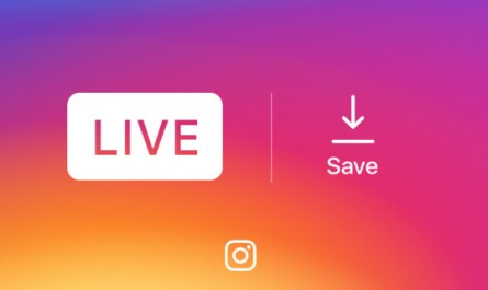 Instagram save live video option