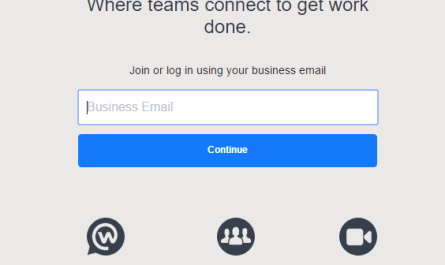Facebook Workplace Free Version sign up page