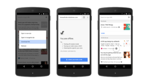 Android Chrome read pages offline screenshots