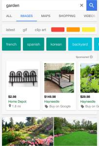 Google mobile image search filters screenshot 1