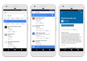 AI powered Google jobs search examples
