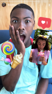 Instagram Stories photo and video replies example