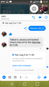 Facebook Messenger M virtual assistant planner reminder