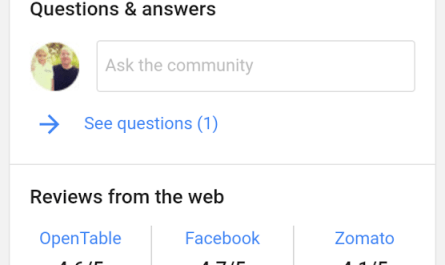 Google Local Knowledge Panel questions and answers