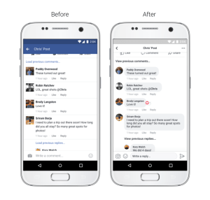 facebook post comments redesign
