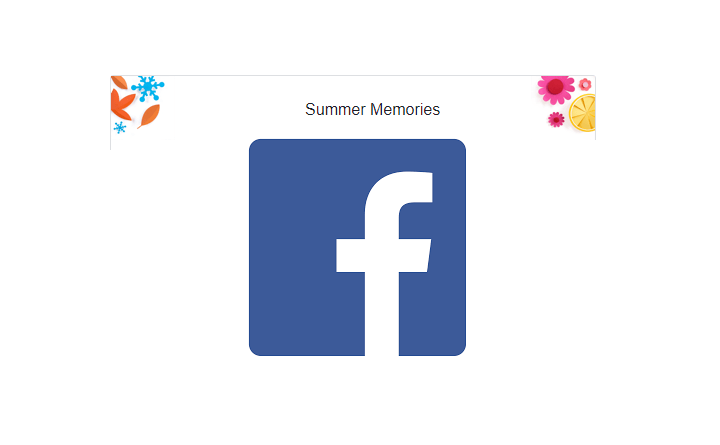 Facebook Summer Memories