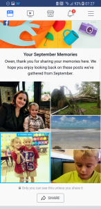 Facebook September Memories prompt