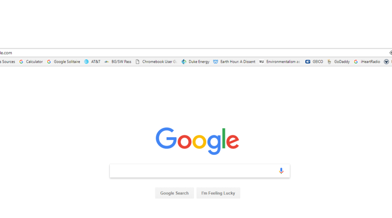 new google homepage links