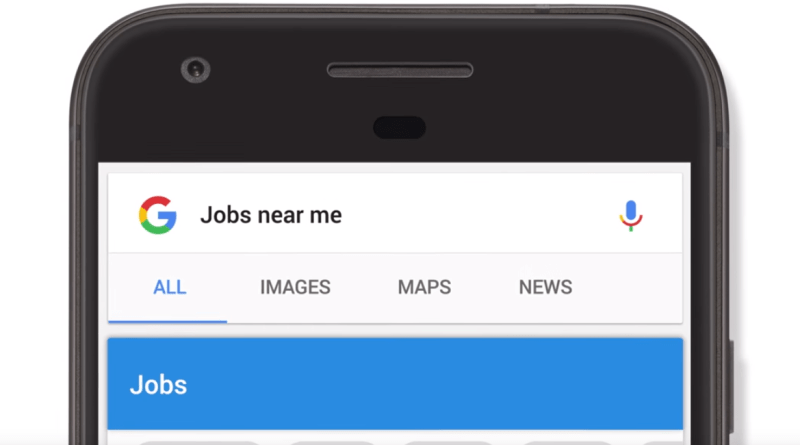 Google job search feature