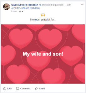 Facebook Did You Know Answer a Question post