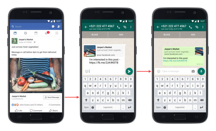 Facebook Ads Click-to-WhatsApp Messaging Buttons Now Appearing