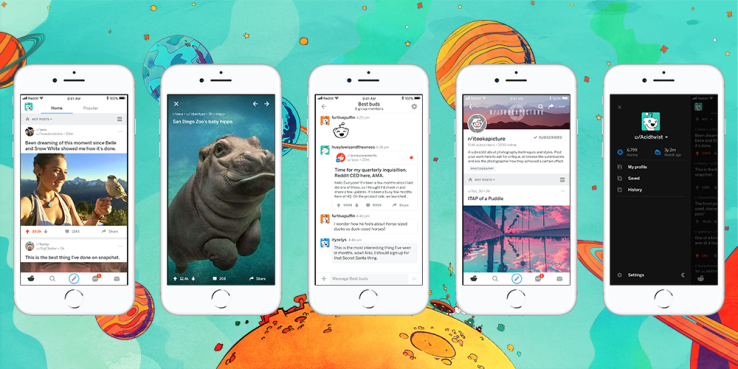 New Reddit Mobile Apps go Live, Support Real-Time Comments, Chat, and More