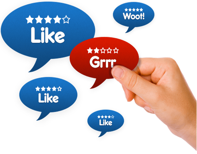 Google local search results third party reviews