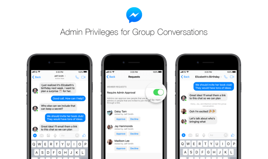 Facebook Messenger Introduces Group Chat Admin Privileges
