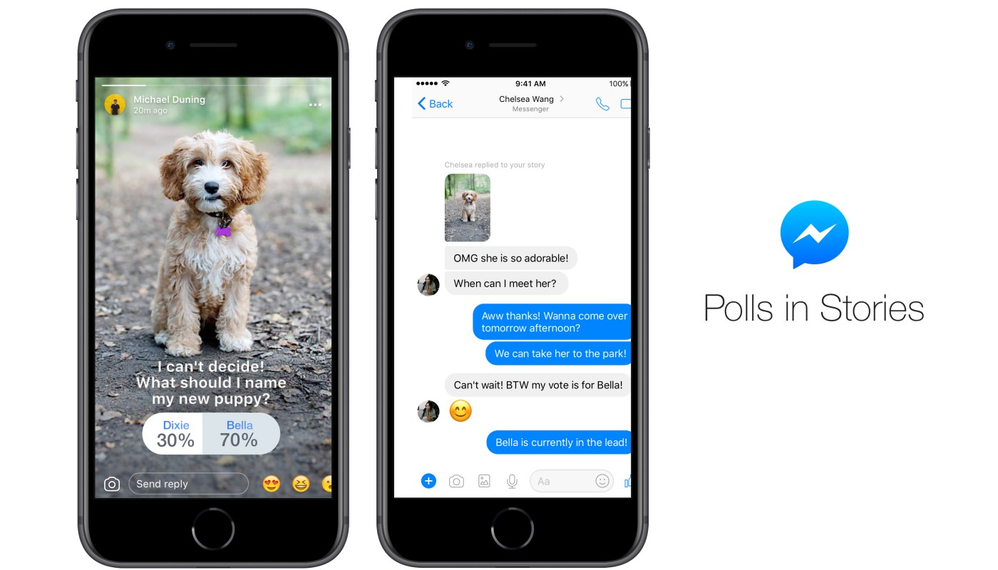 Facebook Messenger Stories polls