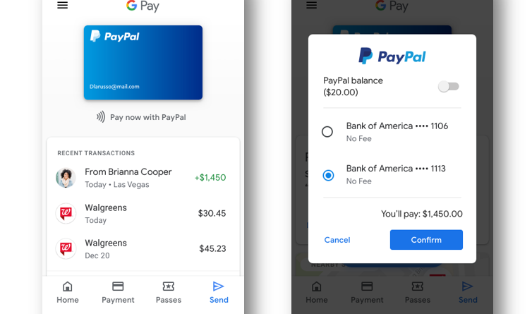 PayPal Gmail YouTube integration
