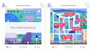 Facebook May Moments video visited places