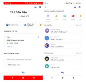 Google Assistant personal overview screenshot