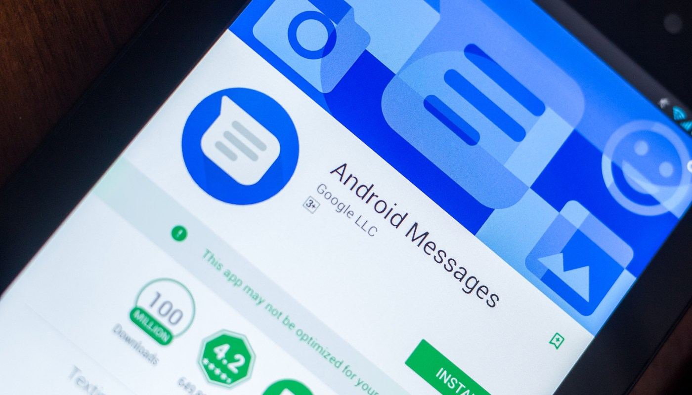 Android Messages search filters