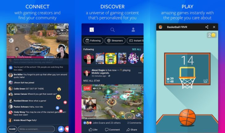 facebook just launched its own gaming hub app but only people in one
