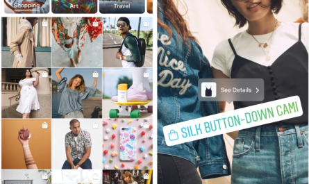 Instagram Explore Page shopping tags