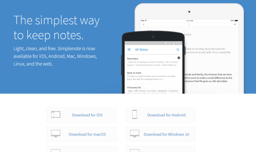 WordPress.com just Released a New Note-Taking App called Simplenote