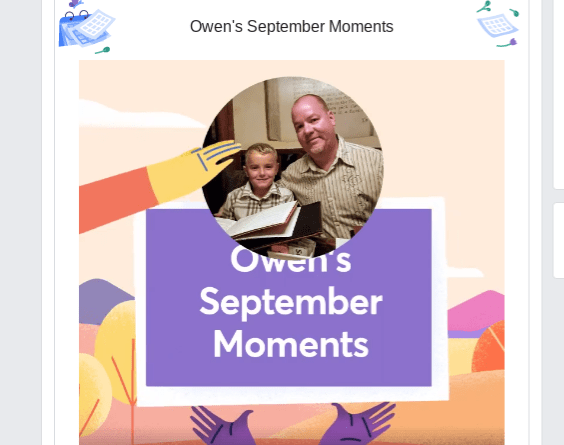 Facebook September Moments video 2018