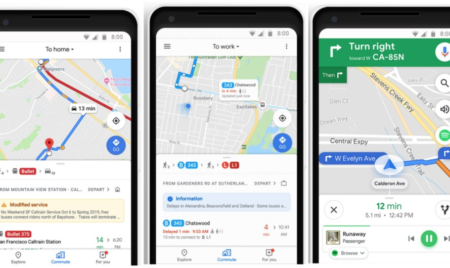 Now, Google Maps helps People Better Plan their Way to Work and Beyond