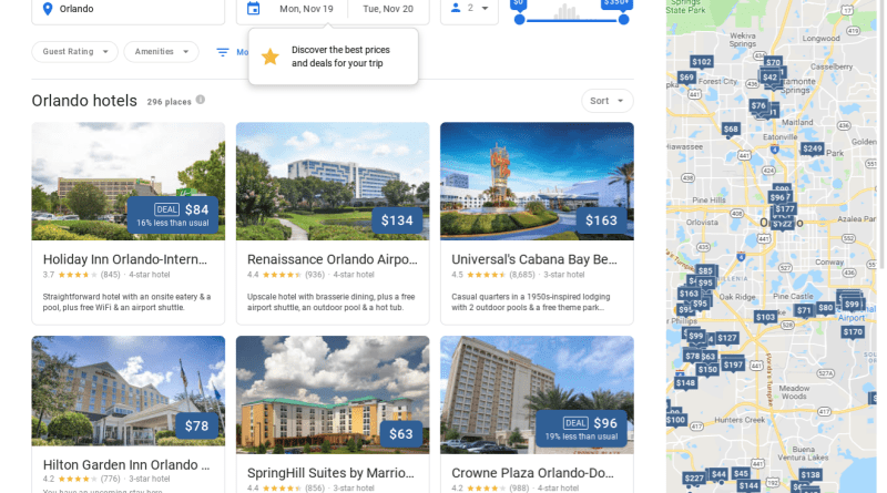 Google desktop hotel search