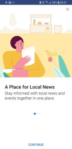 Facebook Today In Place for Local News