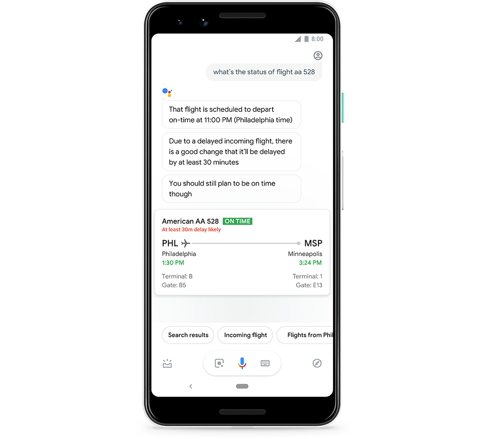 Google Assistant can Now Tell Travelers if Flights are