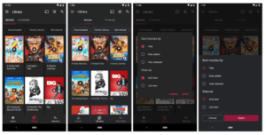 Google Play Movies and TV UI before and after